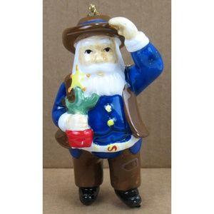 Dillard's Holiday - New Dillard's - Cowboy Santa Ornaments Two Pieces